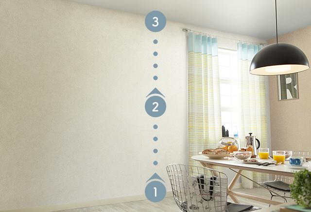 床、壁、天井の色のバランスを考えましょう